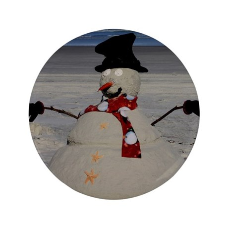 "Floridian Snowman 3.5"" Button"