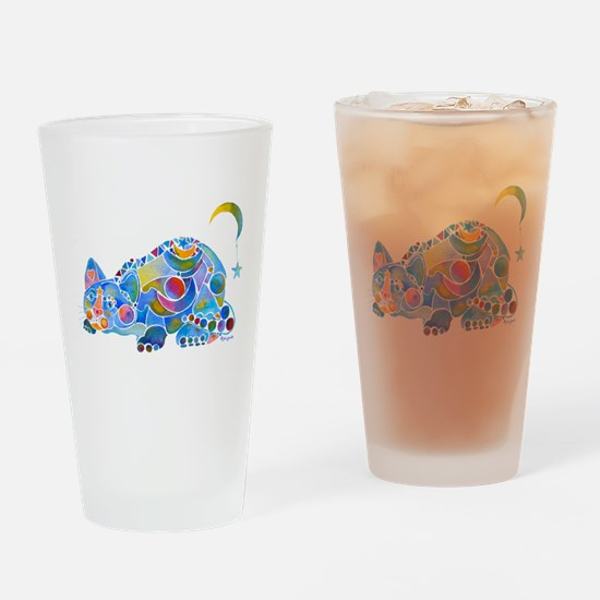 Cat of Moon and Stars Drinking Glass