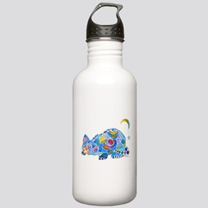 Cat of Moon and Stars Stainless Water Bottle 1.0L