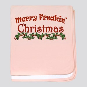 Merry Freakin Christmas baby blanket