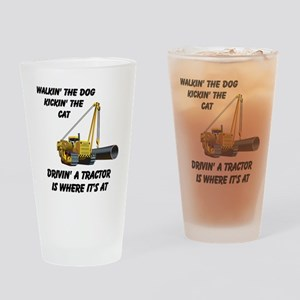 Driving a Tractor is Where It Drinking Glass