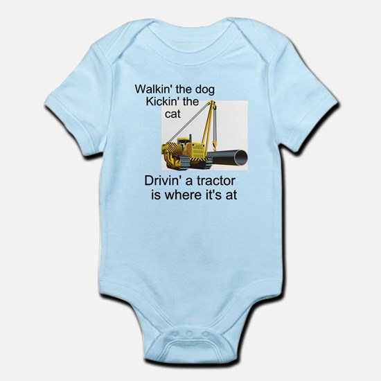 Driving a Tractor is Where It Infant Bodysuit