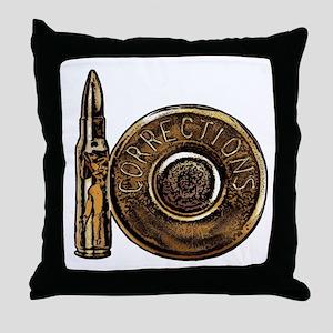 Corrections Bullet Throw Pillow