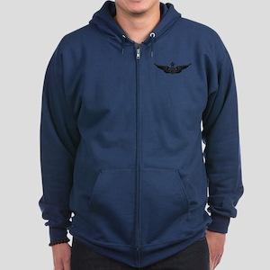Aviator - Senior B-W Zip Hoodie (dark)