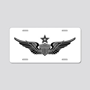 Aviator - Senior B-W Aluminum License Plate