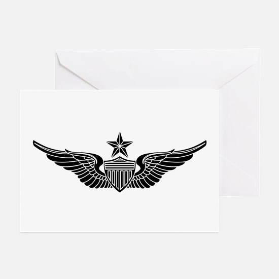 Aviator - Senior B-W Greeting Cards (Pk of 10)
