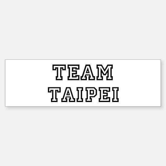 Team Taipei Bumper Bumper Bumper Sticker
