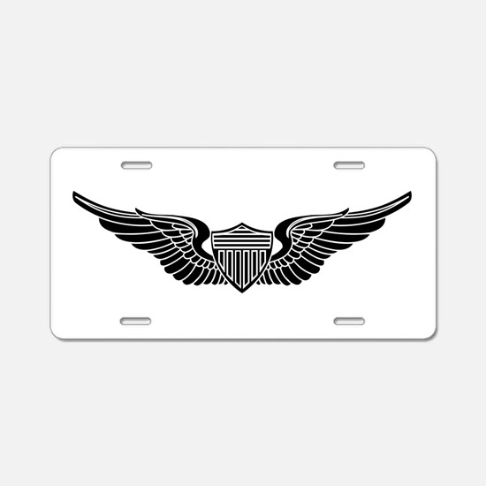 Aviator B-W Aluminum License Plate