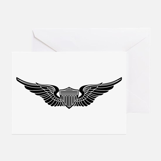 Aviator B-W Greeting Cards (Pk of 10)