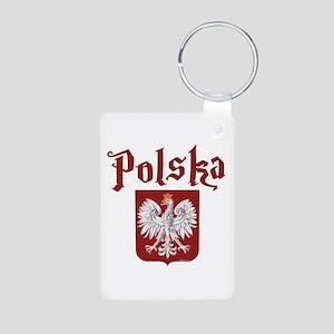 Polska Aluminum Photo Keychain