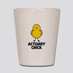 Actuary Chick Shot Glass