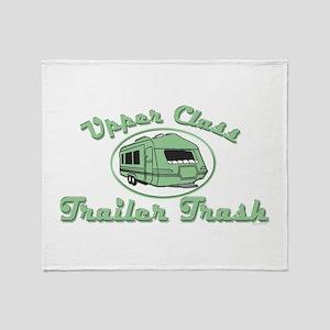 Upper Class Trailer Trash Throw Blanket