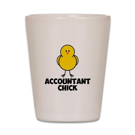 Accountant Chick Shot Glass