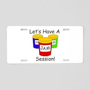 Jam Session Aluminum License Plate