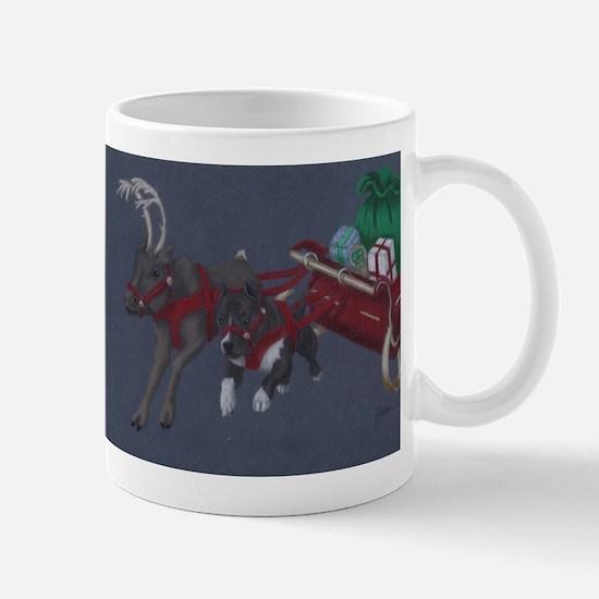 Cute Christmas pit bull Mug
