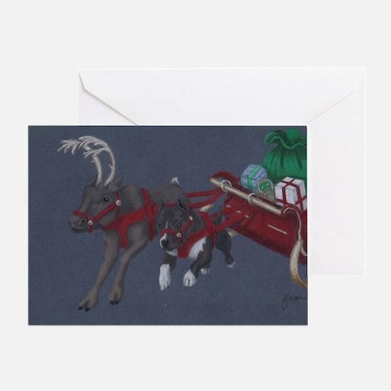 Cool Pit bull christmas Greeting Card