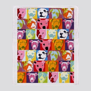Pop Art Pit Bulls Blanket