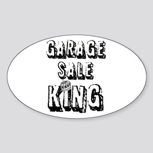 Garage Sale King Sticker (Oval)