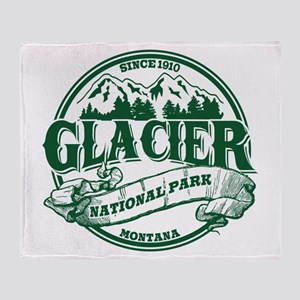 Glacier Old Circle Throw Blanket
