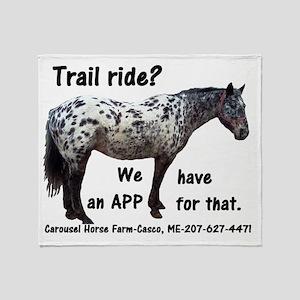Trail Ride App Throw Blanket