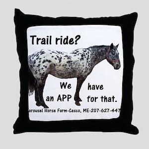 Trail Ride App Throw Pillow