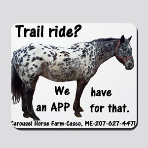 Trail Ride App Mousepad