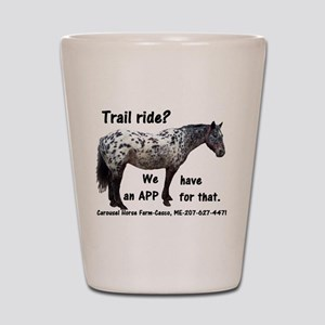 Trail Ride App Shot Glass