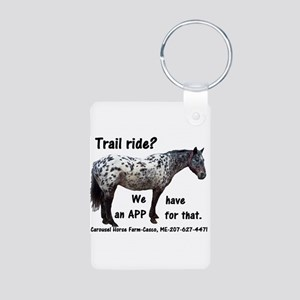Trail Ride App Aluminum Photo Keychain