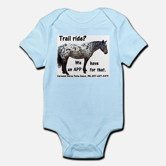 Trail Ride App Infant Bodysuit