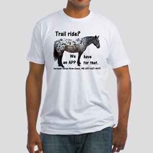Trail Ride App Fitted T-Shirt