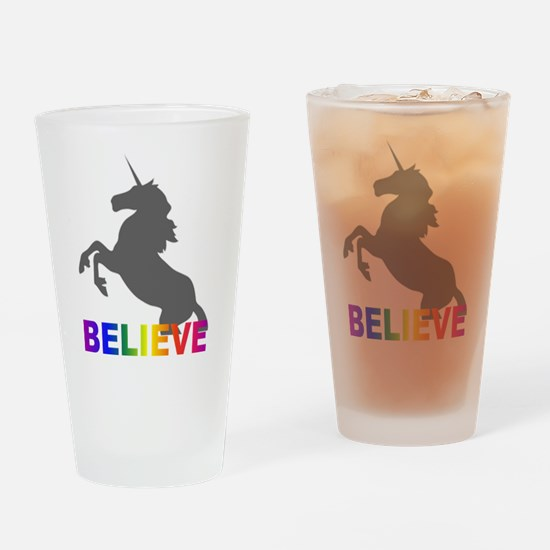 Believe in Unicorns Drinking Glass