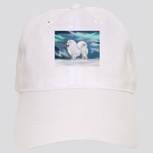 Samoyed and Northern Lights Cap