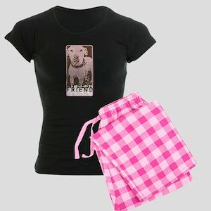 My Best Friend is a Pit Bull Women's Dark Pajamas