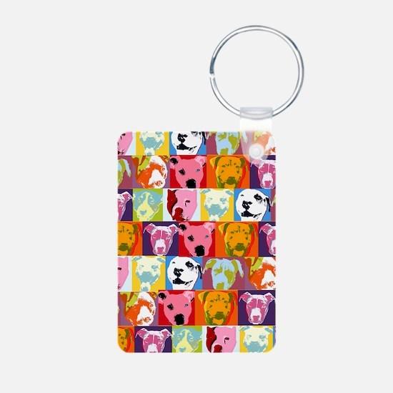 Pop Art Pit Bull Keychain