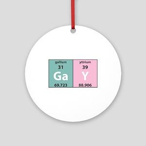 Chemistry Gay Ornament (Round)