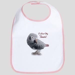 African Grey Parrot Holiday Bib