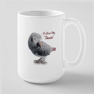 African Grey Parrot Holiday Large Mug