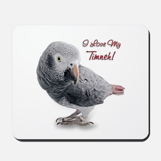 African Grey Parrot Holiday Mousepad
