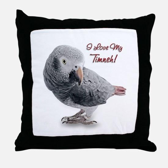 African Grey Parrot Holiday Throw Pillow