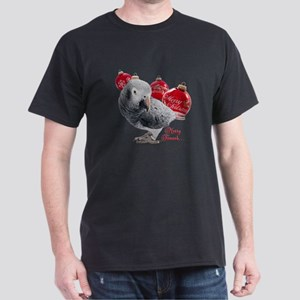 African Grey Parrot Holiday Dark T-Shirt