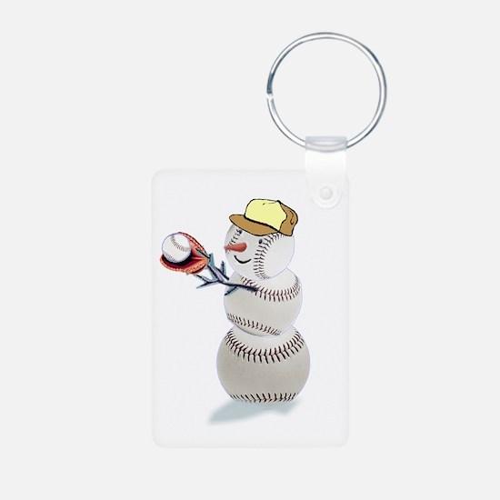 Baseball Snowman Keychains