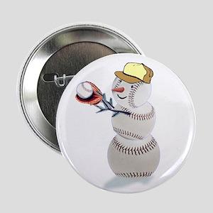 """Baseball Snowman 2.25"""" Button (10 pack)"""