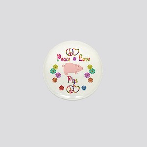 Peace Love Pigs Mini Button