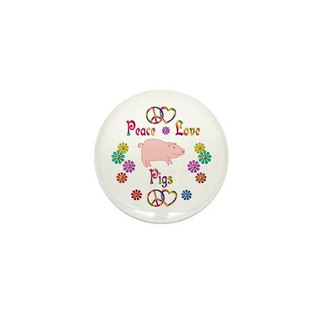 Peace Love Pigs Mini Button (10 pack)
