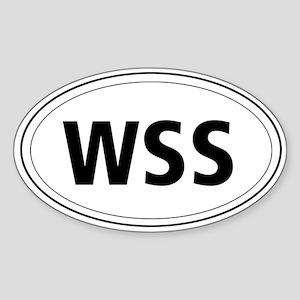 Welsh Springer Spaniel Oval Sticker