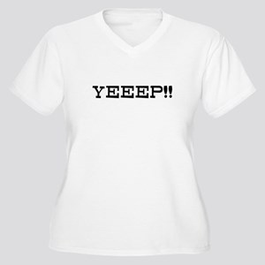 Yeeep Women's Plus Size V-Neck T-Shirt