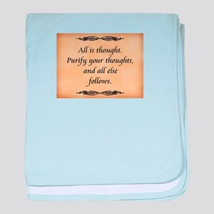All Is Thought baby blanket