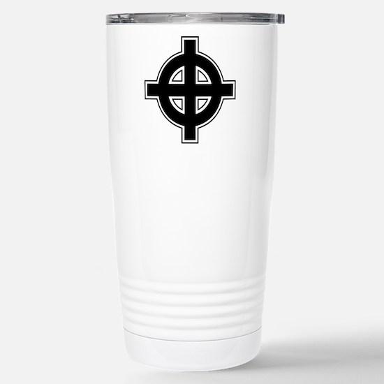 Celtic Cross Stainless Steel Travel Mug