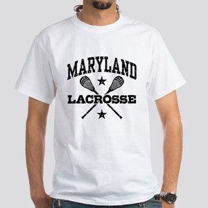 Maryland Lacrosse White T-Shirt