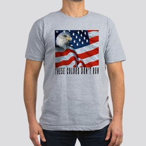 these colors don't run Men's Fitted T-Shirt (dark)
